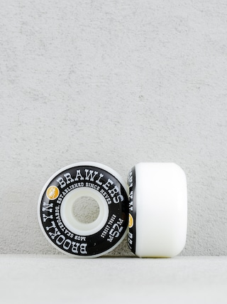 Mob Skateboards Wheels Brooklyn Brawler (white/black/orange)