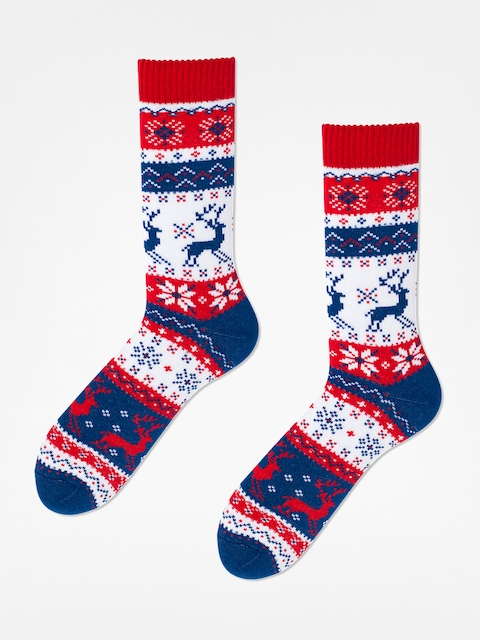 Many Mornings Socks Warm Rudolph (navy/red/white)