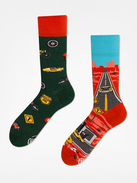 Many Mornings Socken Route 66 (orange/green)