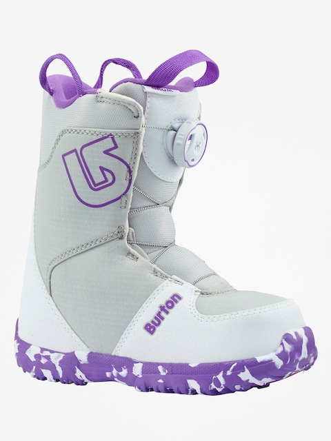 Burton Snowboardschuhe Grom Boa (white/purple)