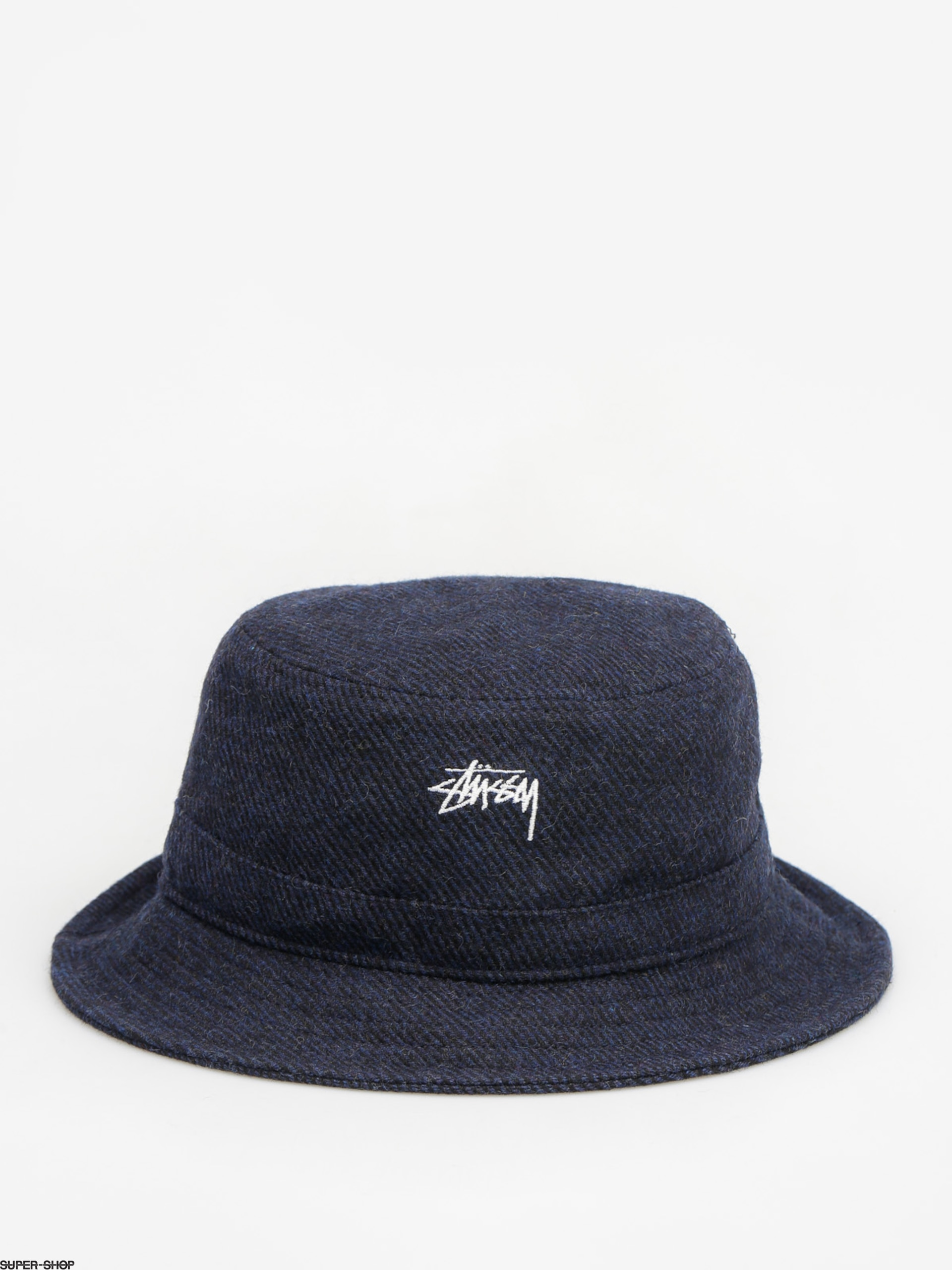 33f4be9e003 Stussy Hat Textured Wool Bucket Hat (blue)
