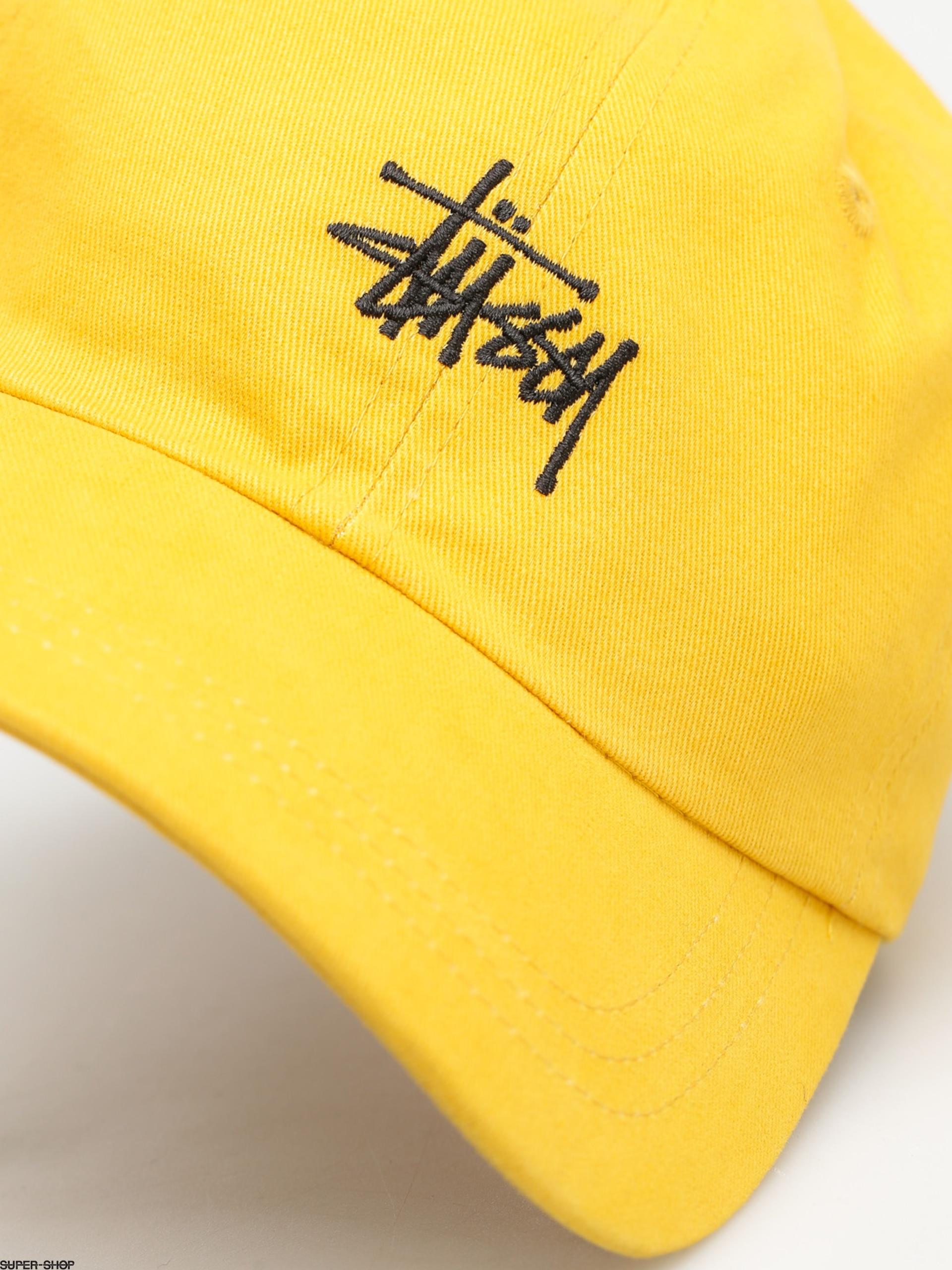 7bfd3490dde Stussy Cap Basic Logo Low Pro Cap (mustard)