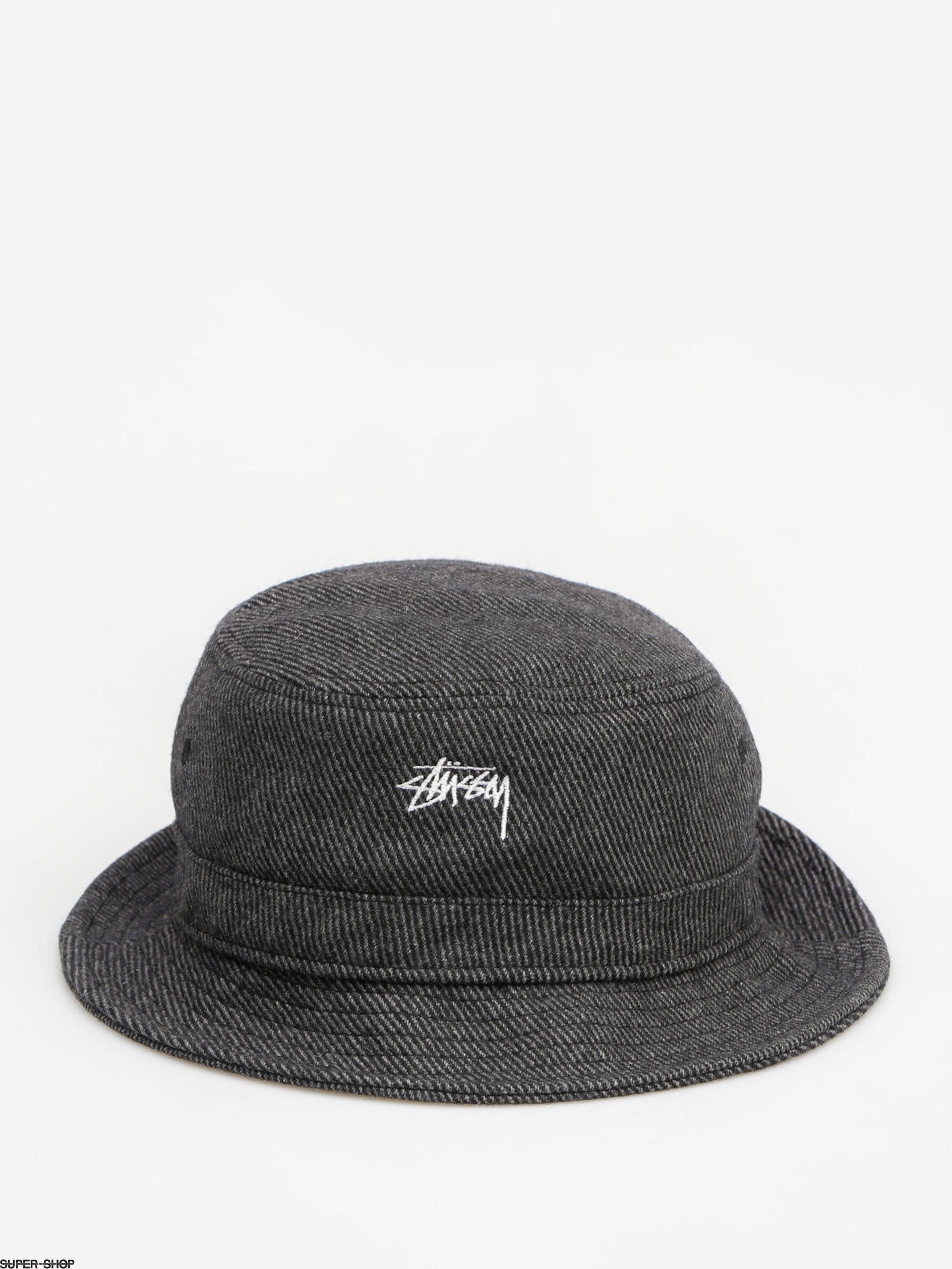 84539a86269 Stussy Hat Textured Wool Bucket Hat (black)
