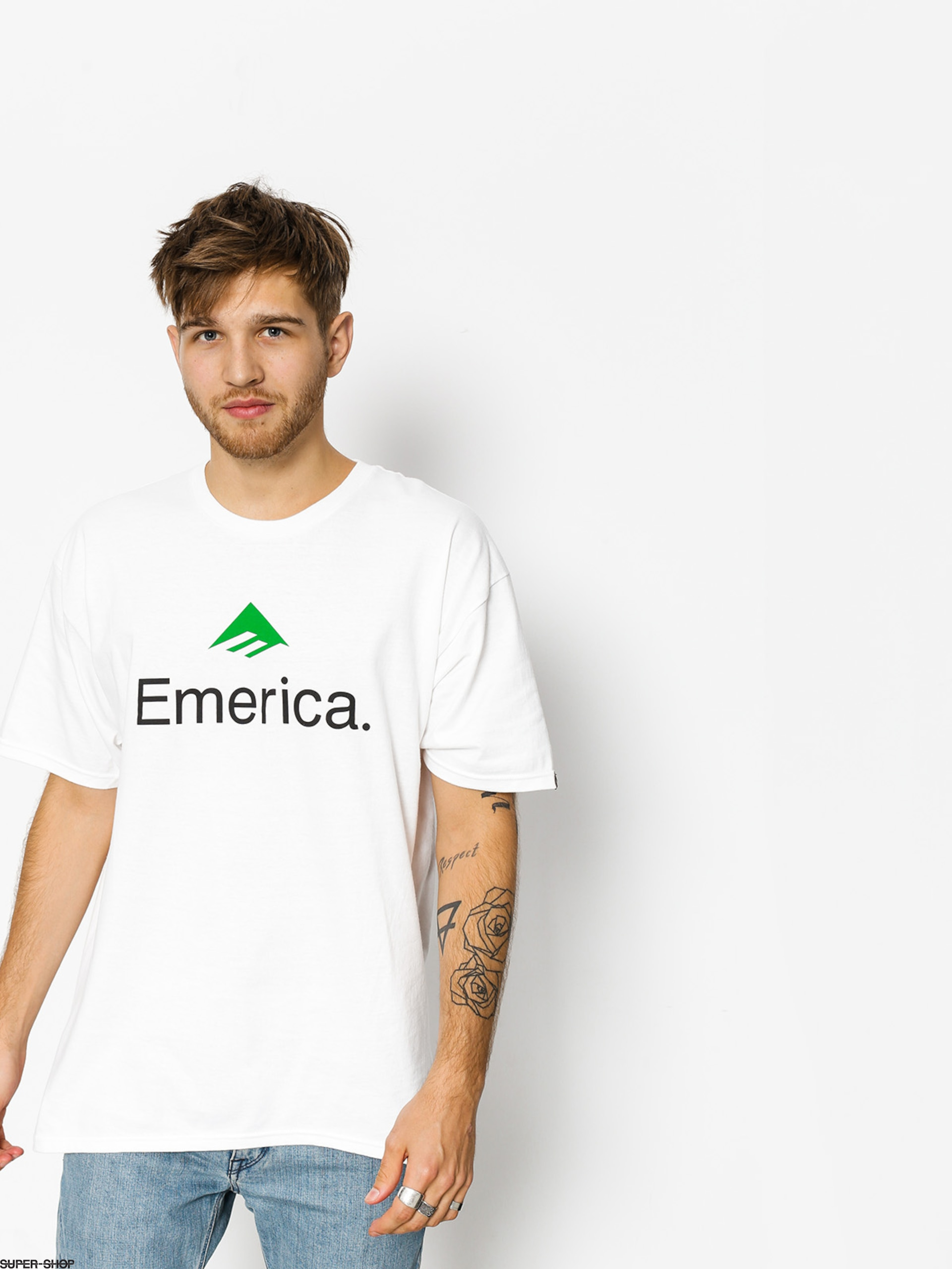 Emerica T-shirt Skateboard Logo (white/green)