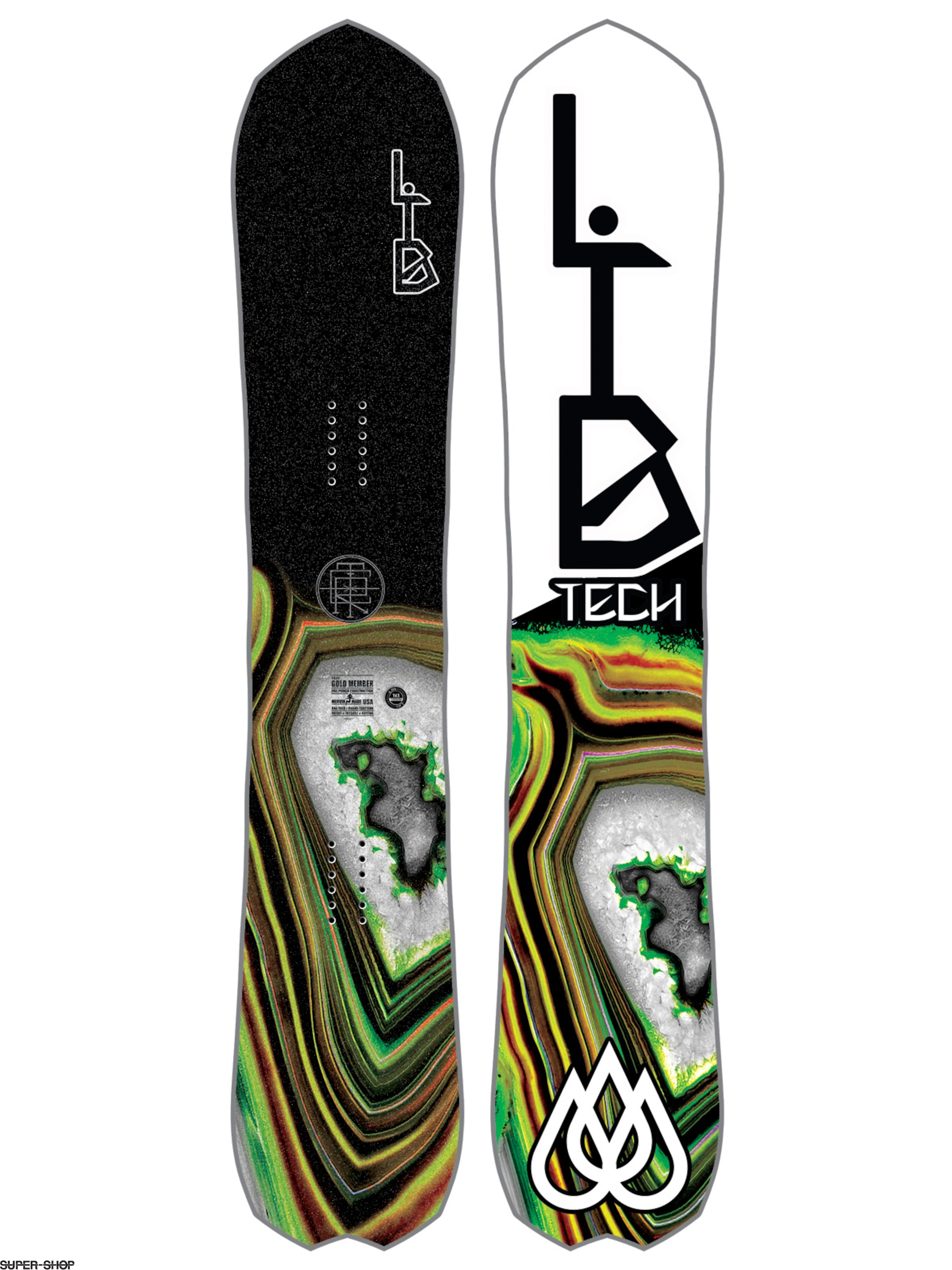 Lib Tech Snowboard T Rice Gold Member Fp C2X (white)