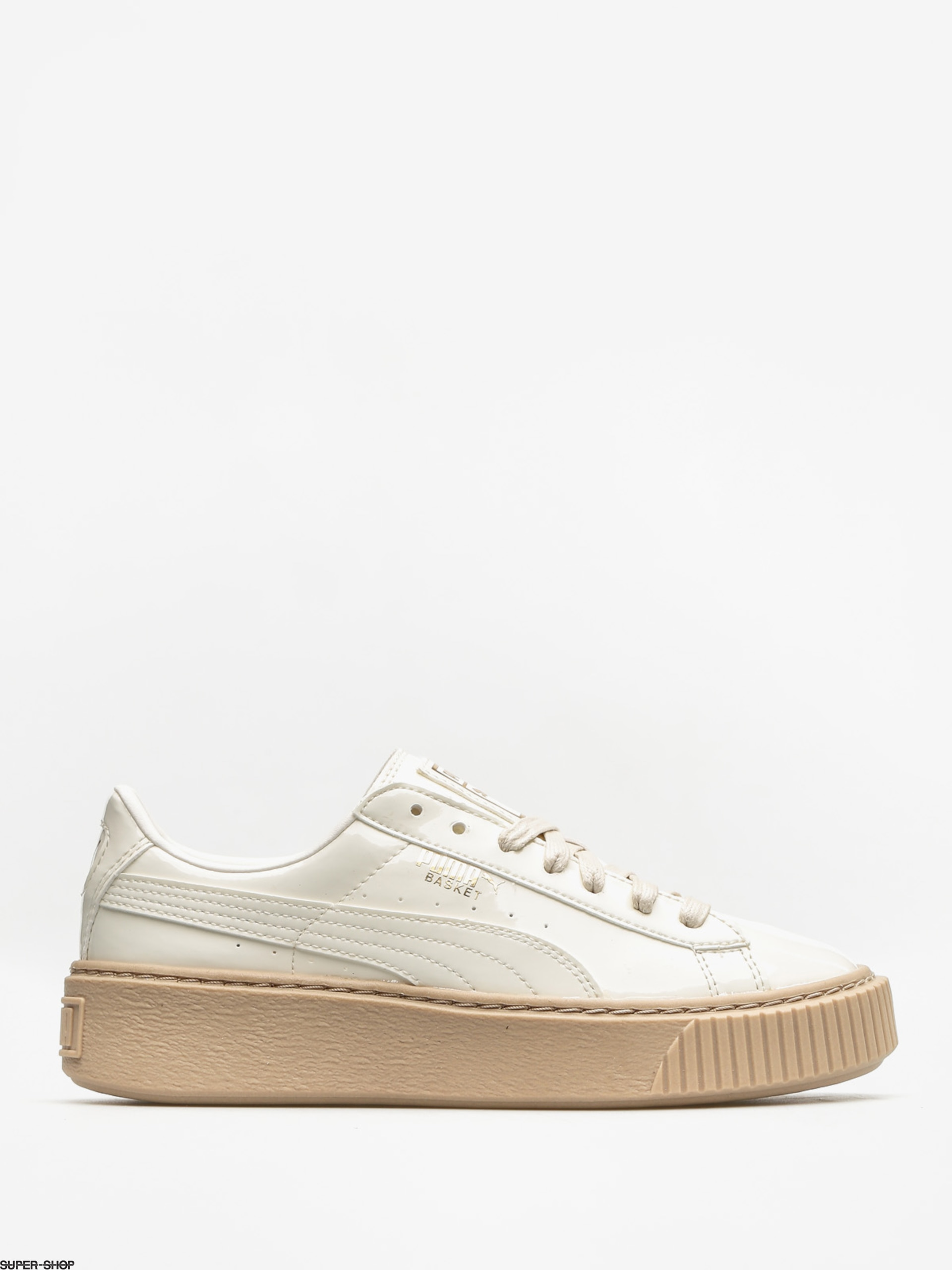 Puma Shoes Basket Platform Patent Wn S Wmn (marshmallow/marshmallow)