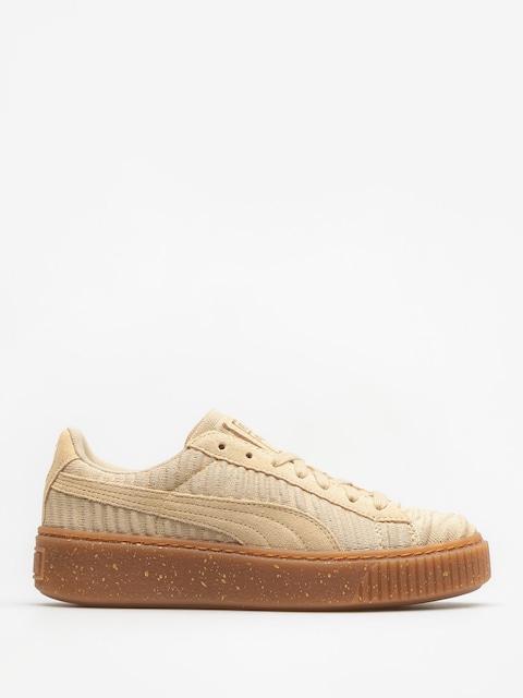Puma Schuhe Basket Platform Ow Wn S Wmn (safari/safari/whisper white)