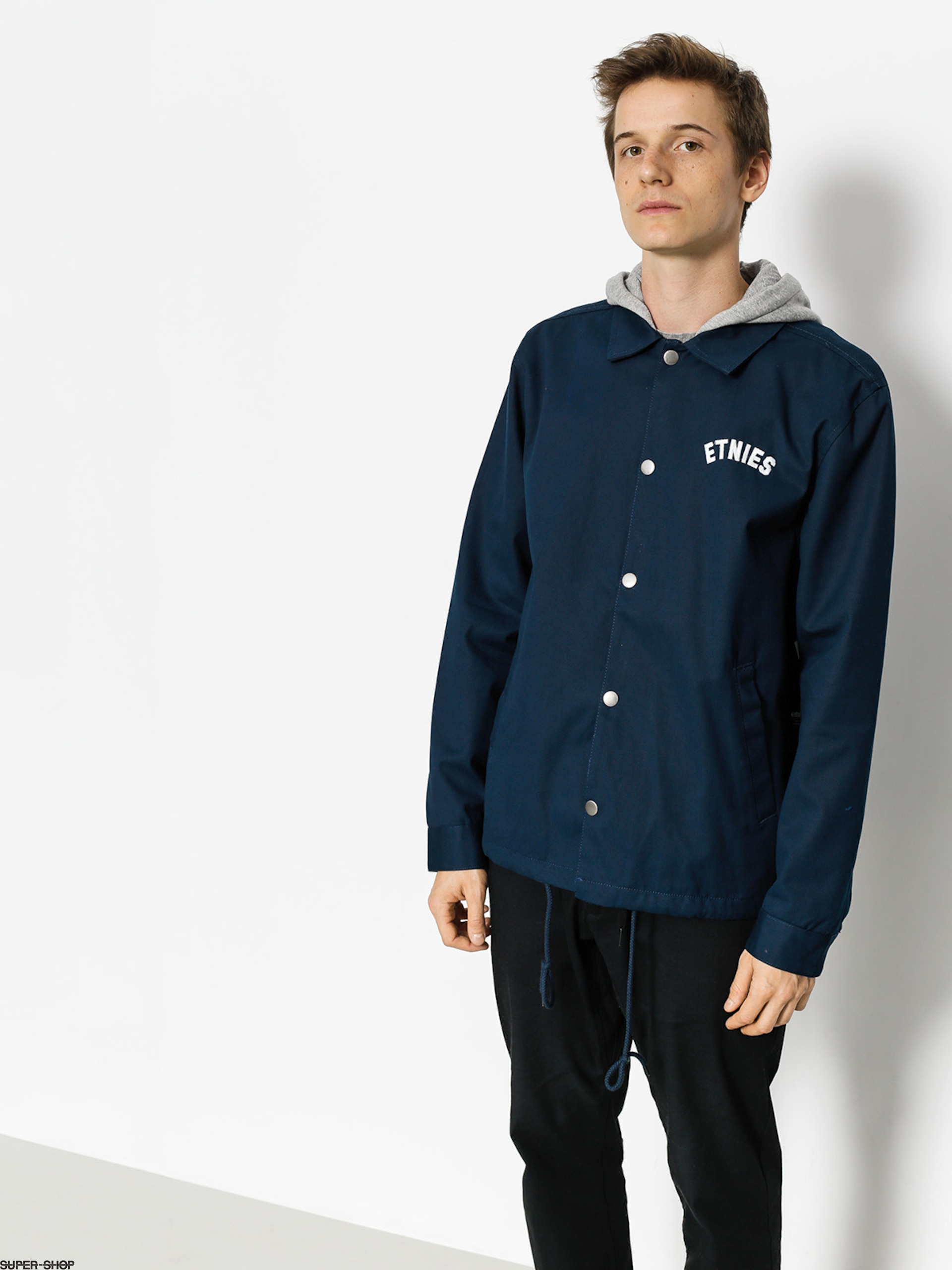 Etnies Jacket Keystone Hooded Coach (dark navy)