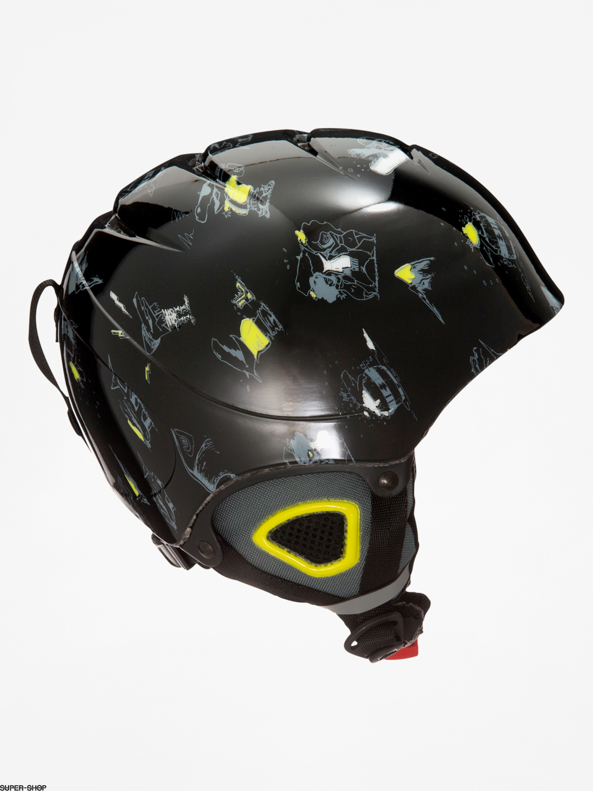 Quiksilver Helm The Game B (black dark doggy snow)