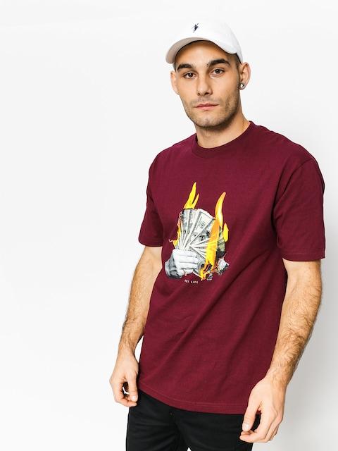DGK T-shirt Fast Life (burgundy)