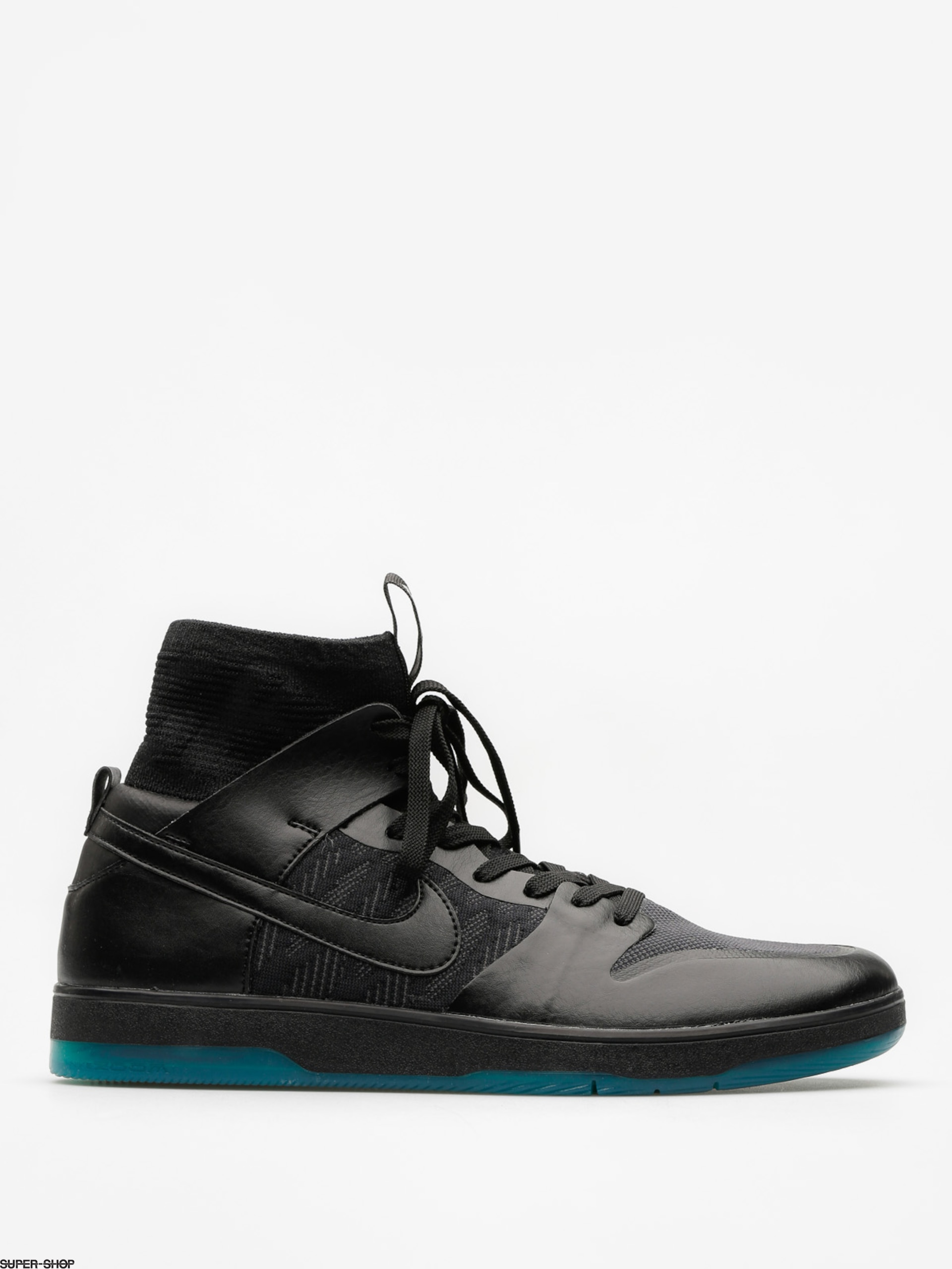 Nike SB Shoes Zoom Dunk High Elite (black/black dk atomic teal)