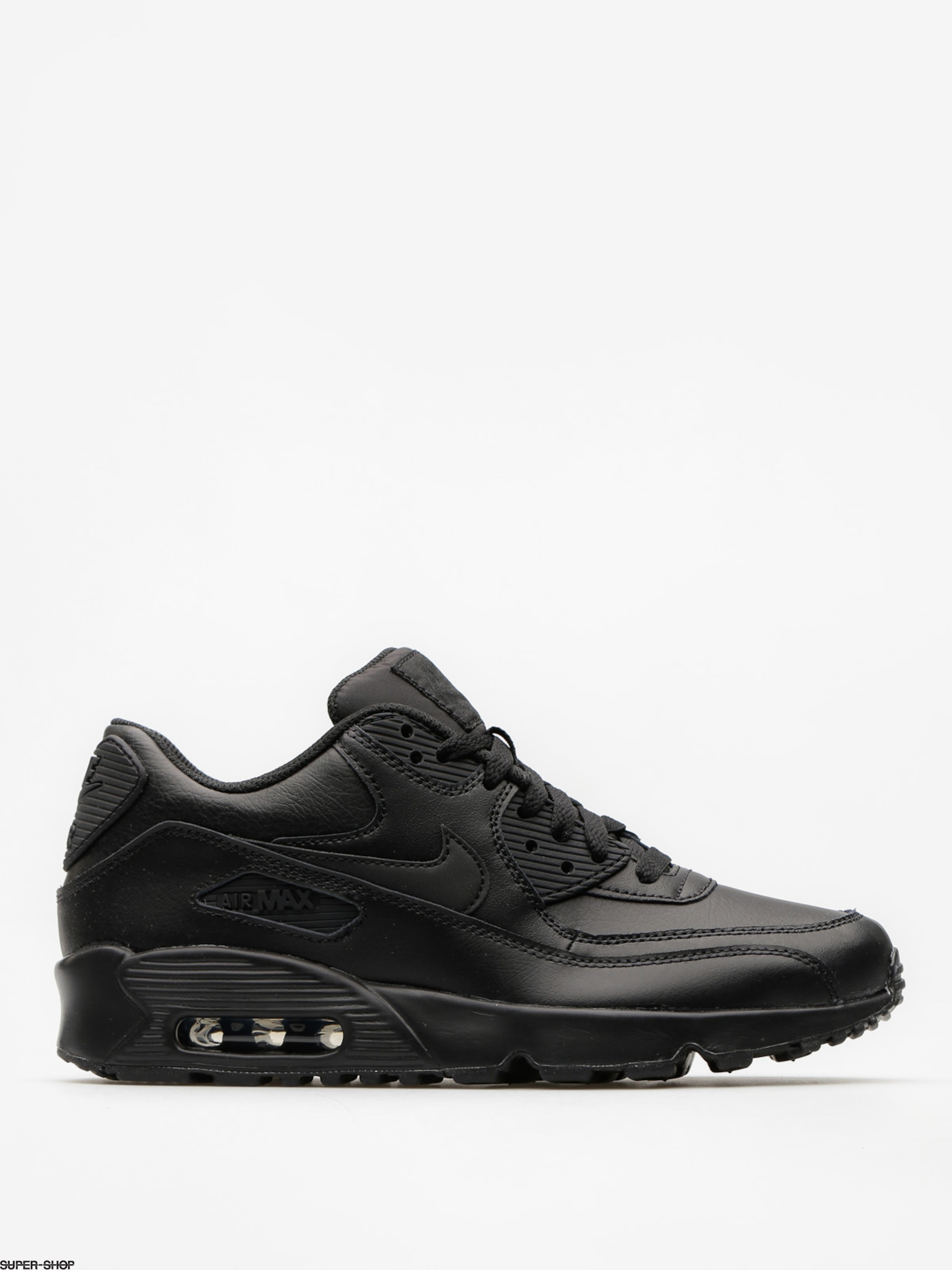 Nike Shoes Air Max 90 Leather Gs (black/black)