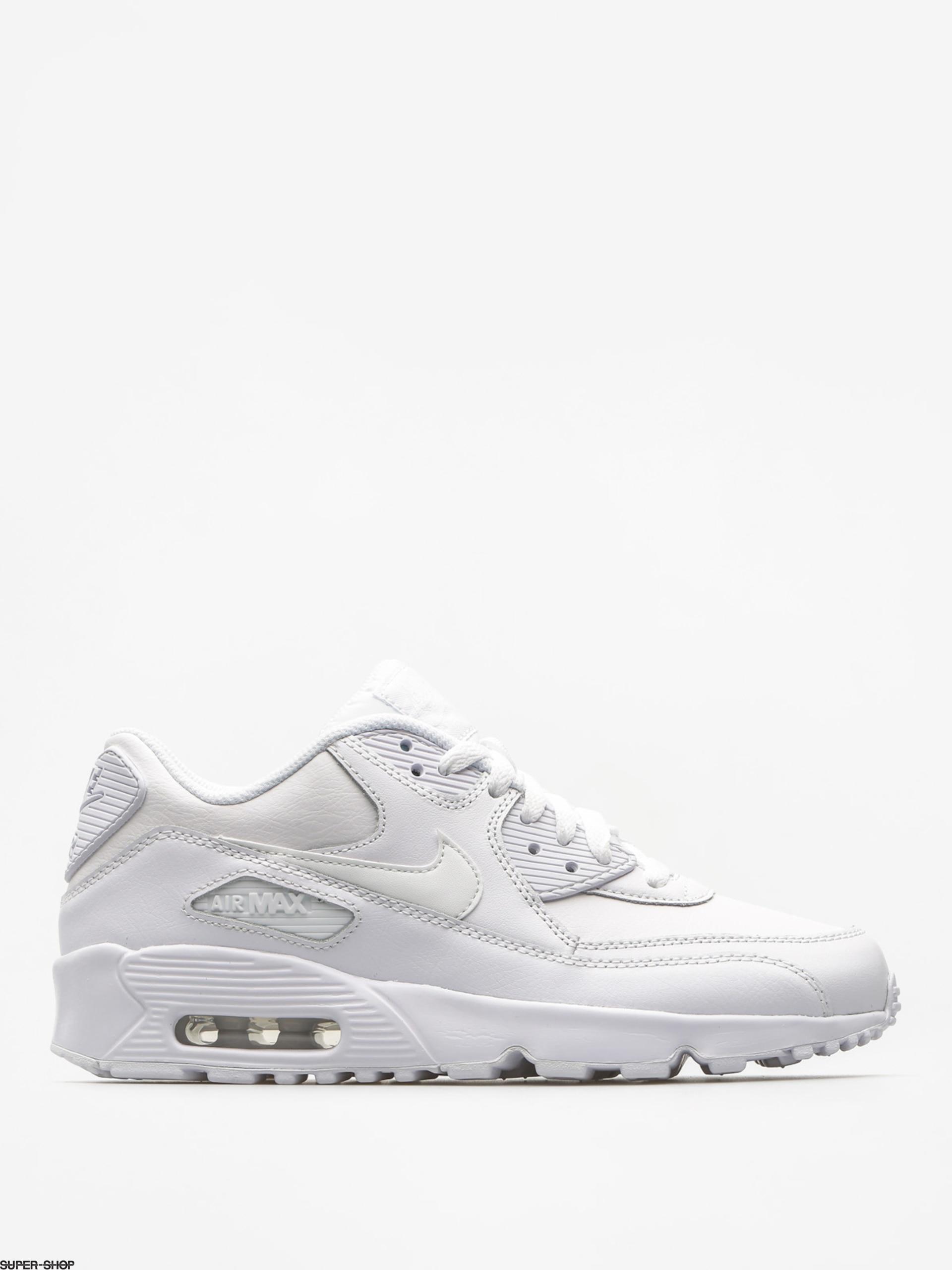 Nike Schuhe Air Max 90 Leather Gs (whitewhite)