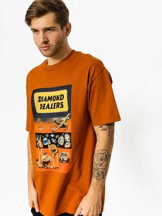 Diamond Supply Co. T-Shirt Dealers (burnt orange)