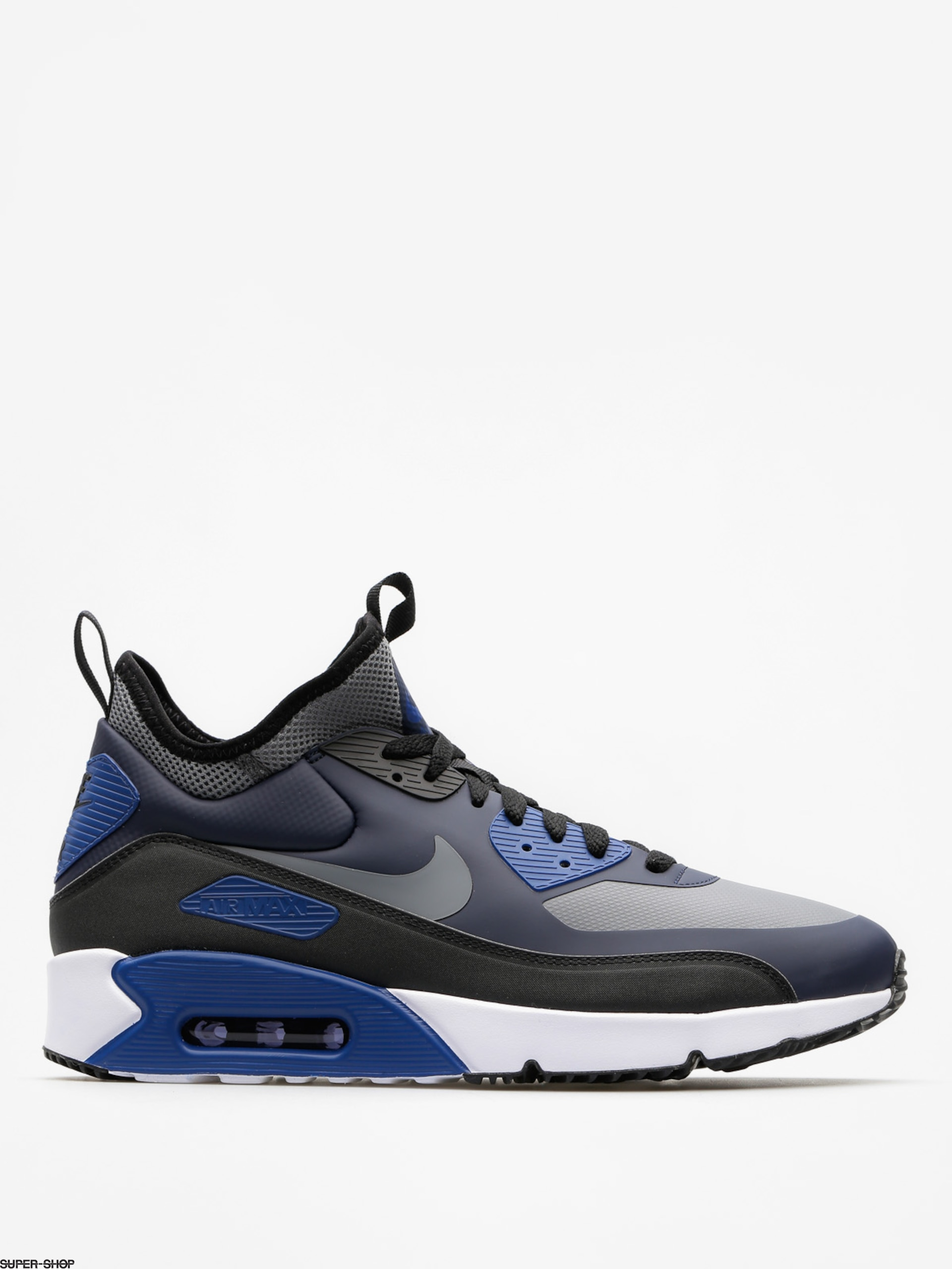 Nike Schuhe Air Max 90 Ultra Mid Winter (obsidian/cool grey black gym blue)