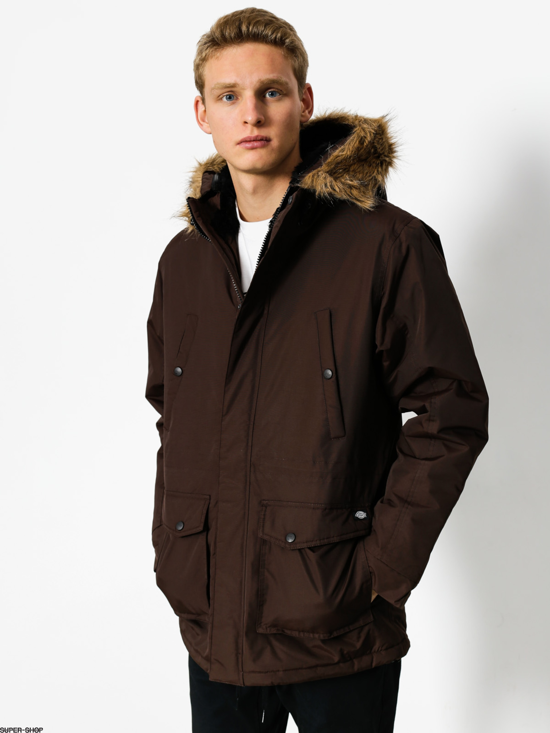 Dickies Jacke Curtis (chocolate brown)