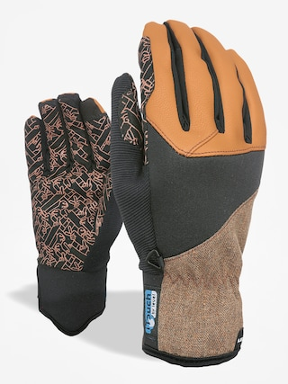 Level Gloves Line I Touch (plaid brown)
