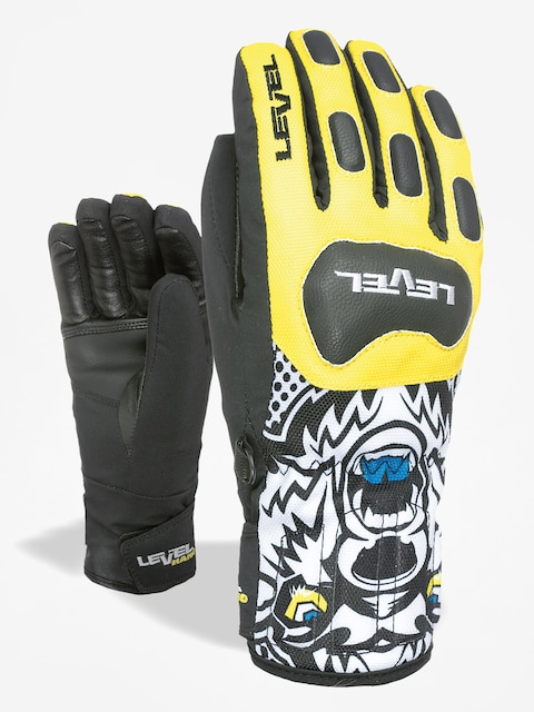 Level Race Jr Gloves (black/yellow)