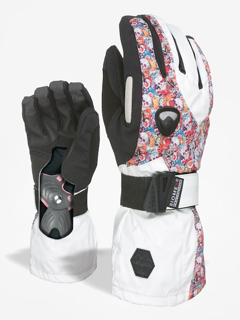 Level Gloves Butterfly Wmn (white/red)