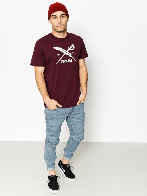 Iriedaily T-Shirt Daily Flag (maroon mel)
