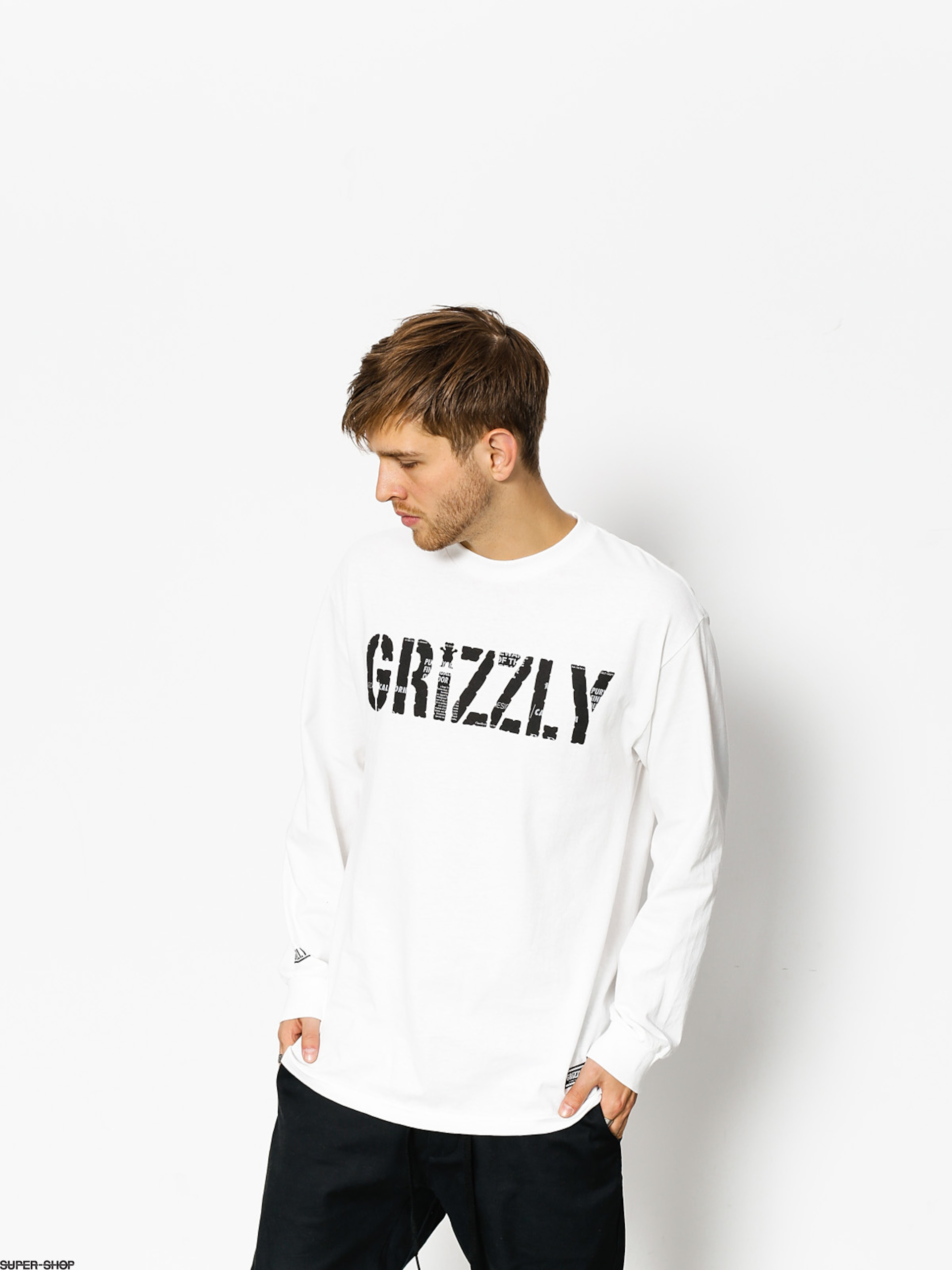 Grizzly Griptape Longsleeve Headlines (white)