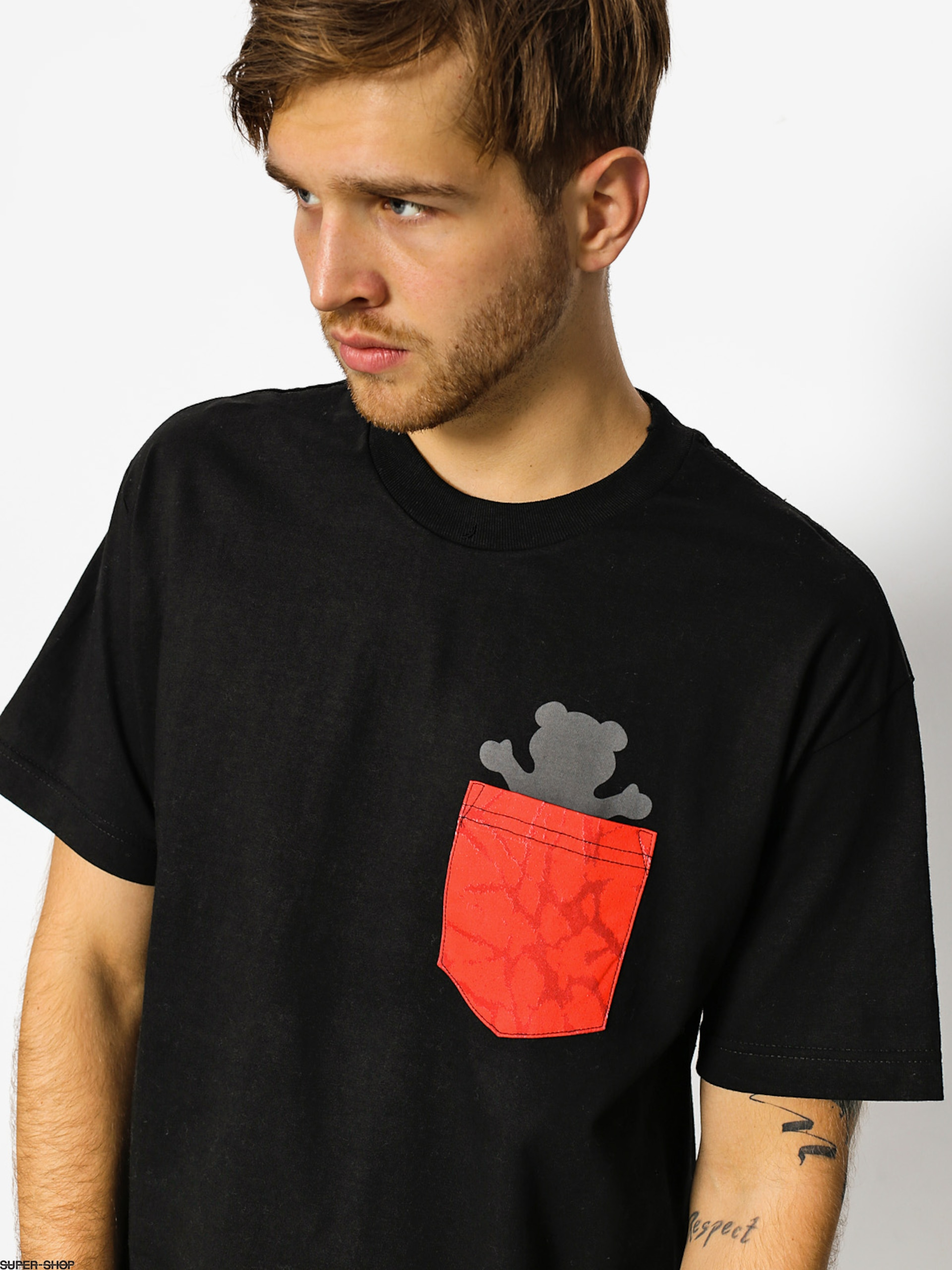 Grizzly Griptape T-shirt Cement Pocket (black)
