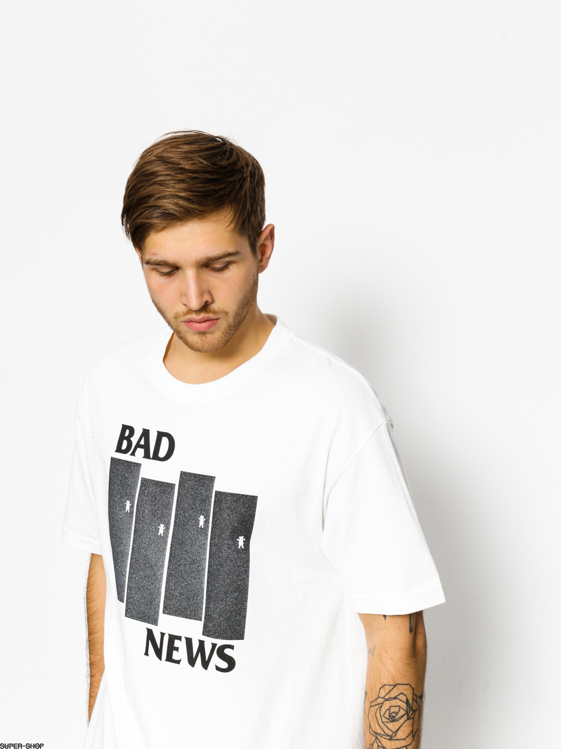 Grizzly Griptape T-shirt Bad Flag (white)