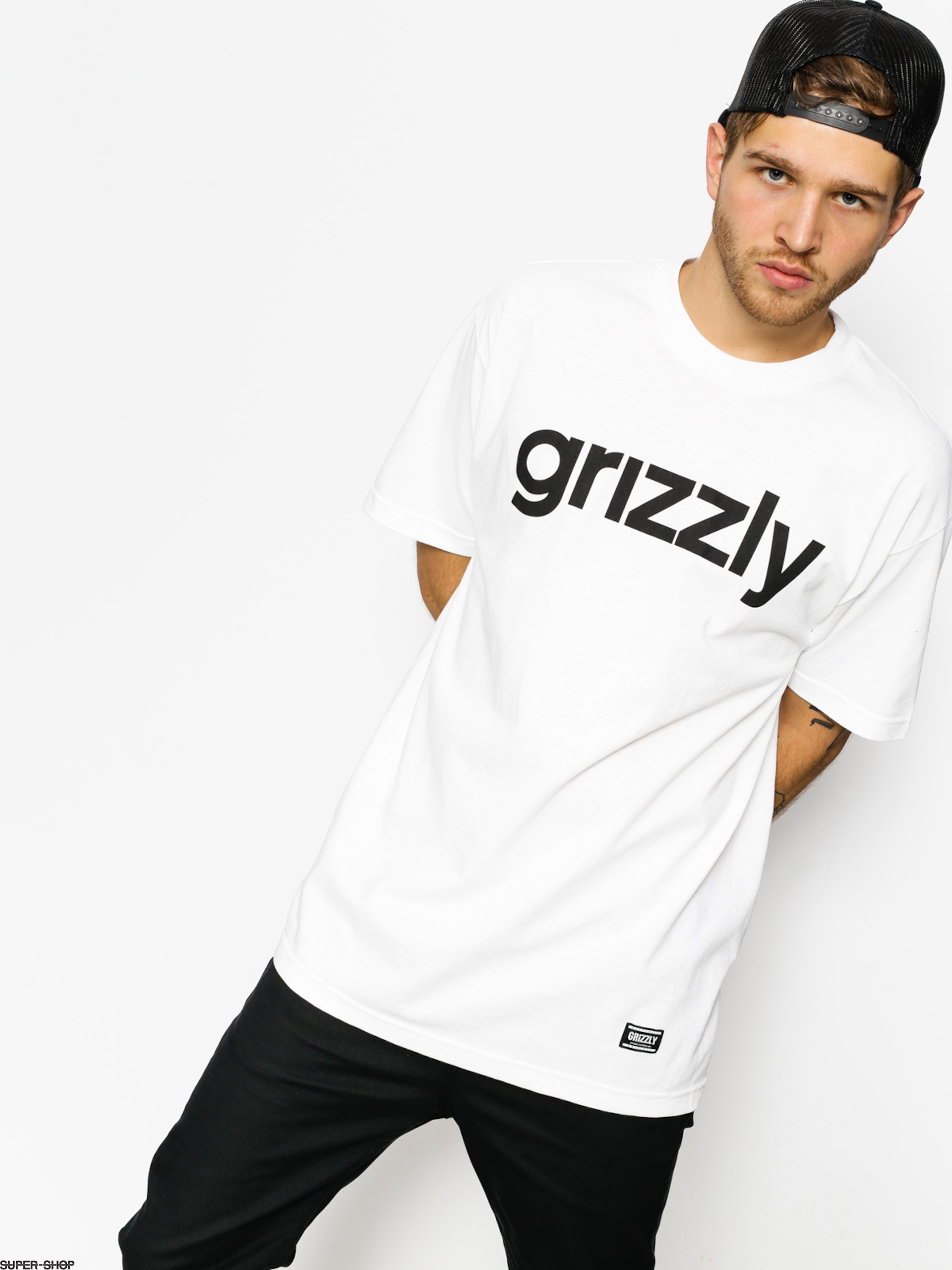 Grizzly Griptape T-shirt Lowercase (white)