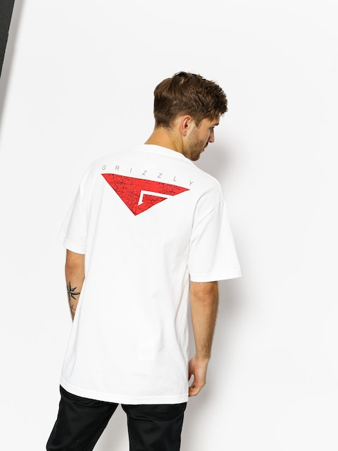 Grizzly Griptape T-Shirt Cement (white)