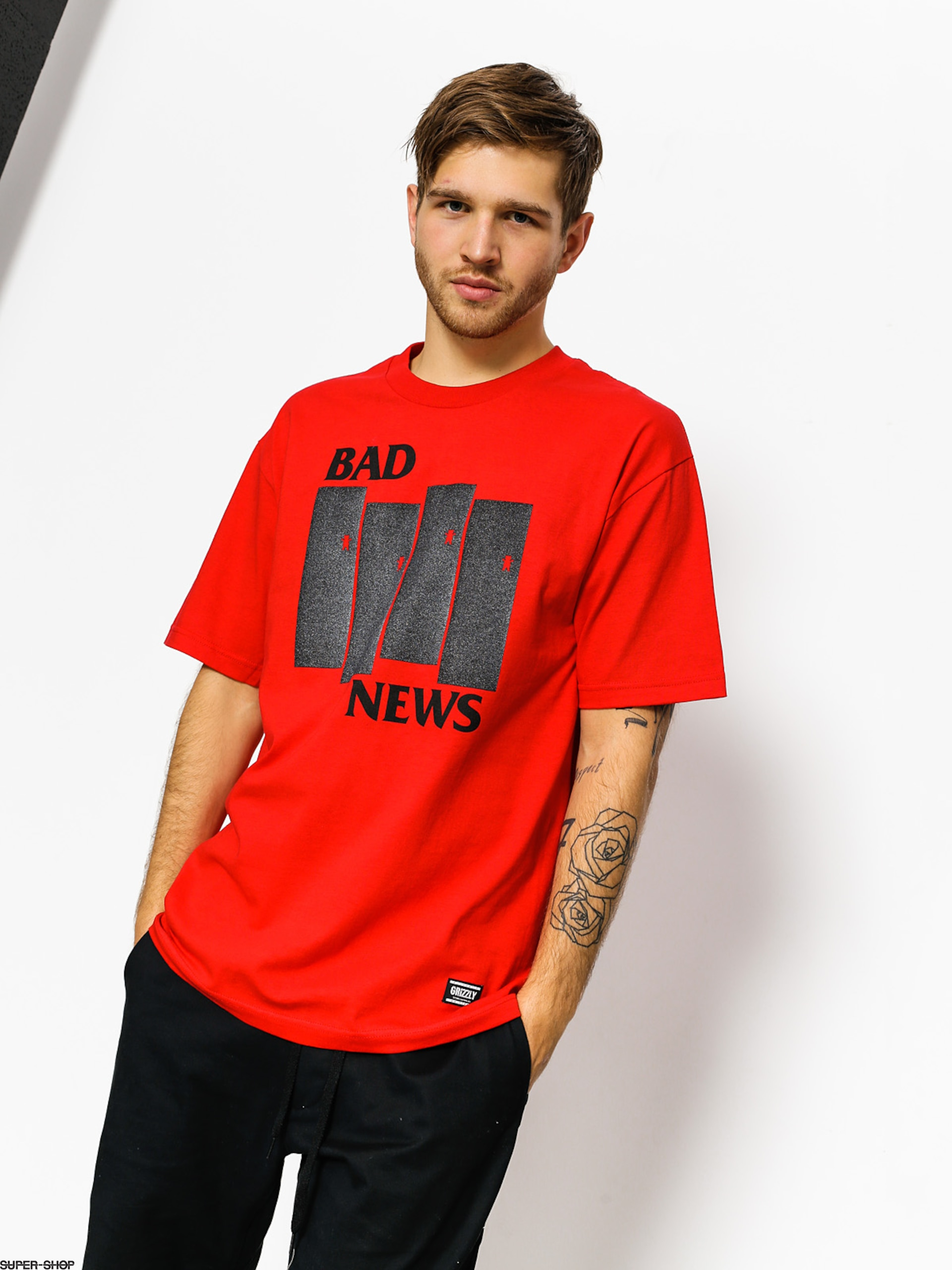 Grizzly Griptape T-shirt Bad Flag (red)