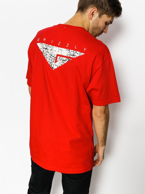 Grizzly Griptape T-shirt Cement (red)