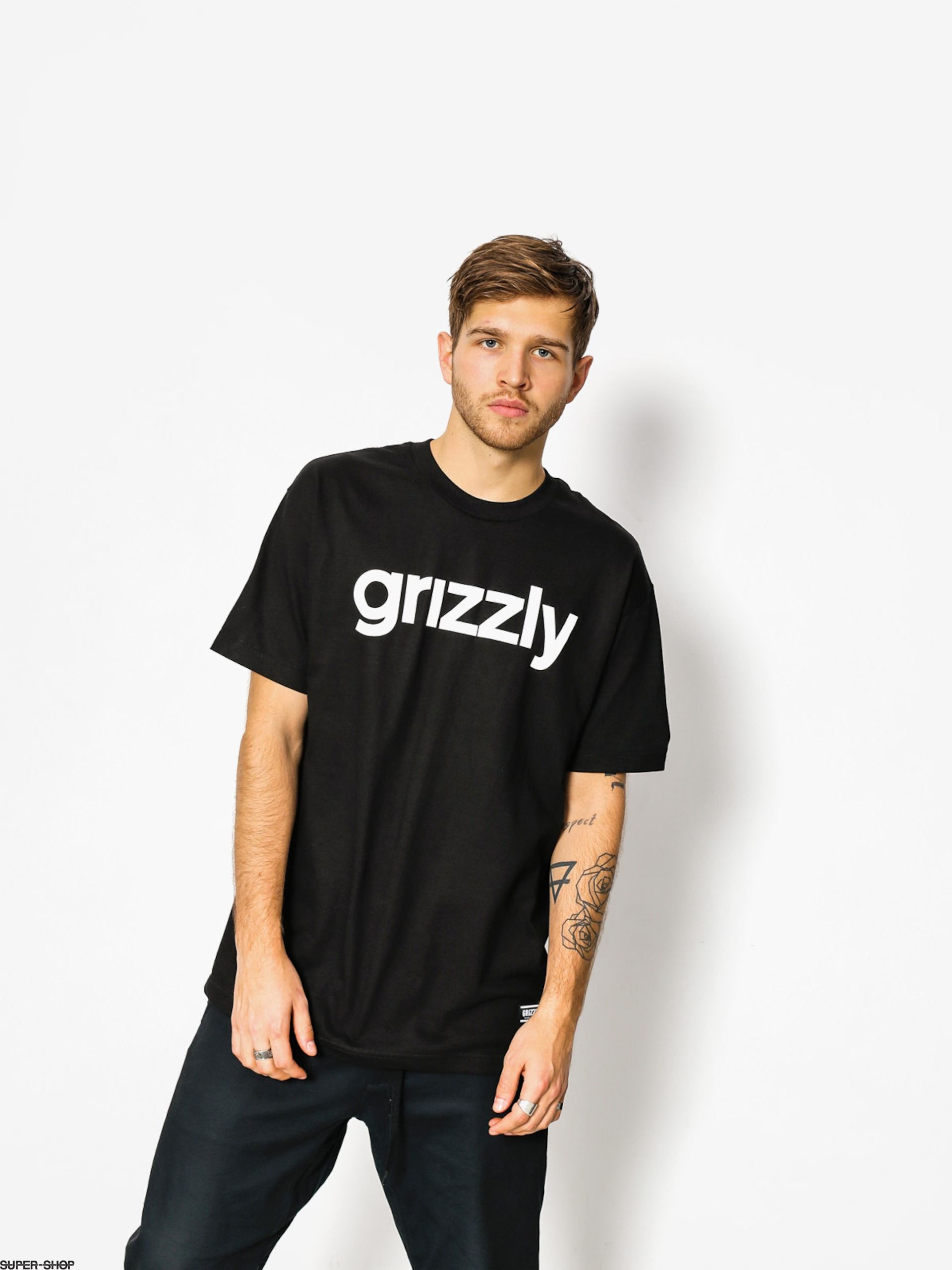 Grizzly Griptape T-shirt Lowercase (black)