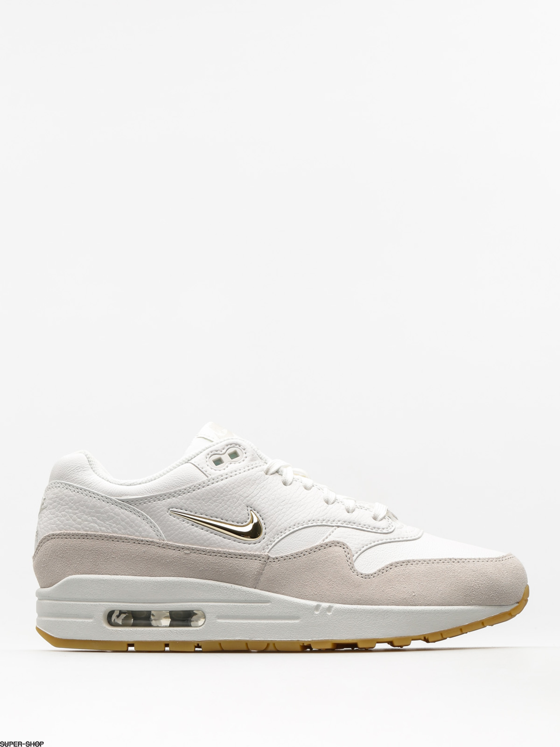 Nike Schuhe Air Max 1 Premium SC Wmn (summit white/mtlc gold star light bone)