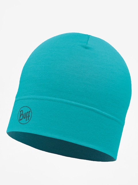 Buff Beanie Midweight Merino Wool (solid turquoise)