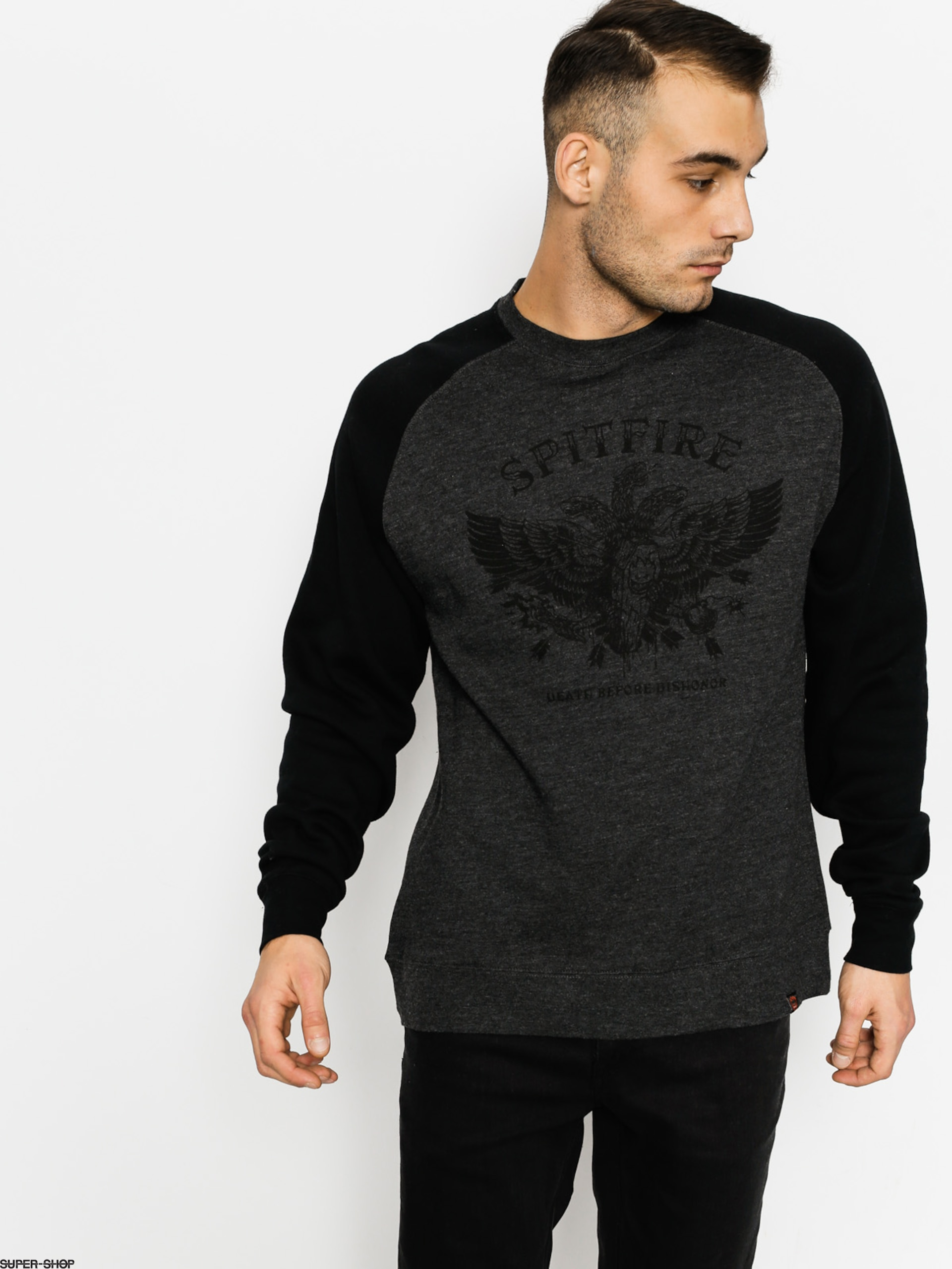 Spitfire Sweatshirt Dishonor (charcoal/black)