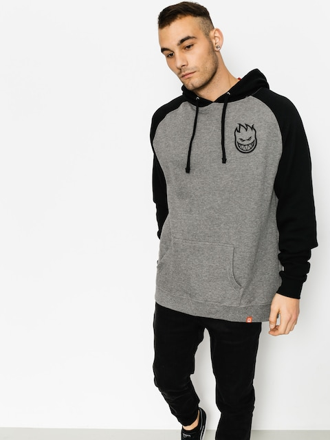 Spitfire Hoodie Bighead Emb HD (heather grey/black)