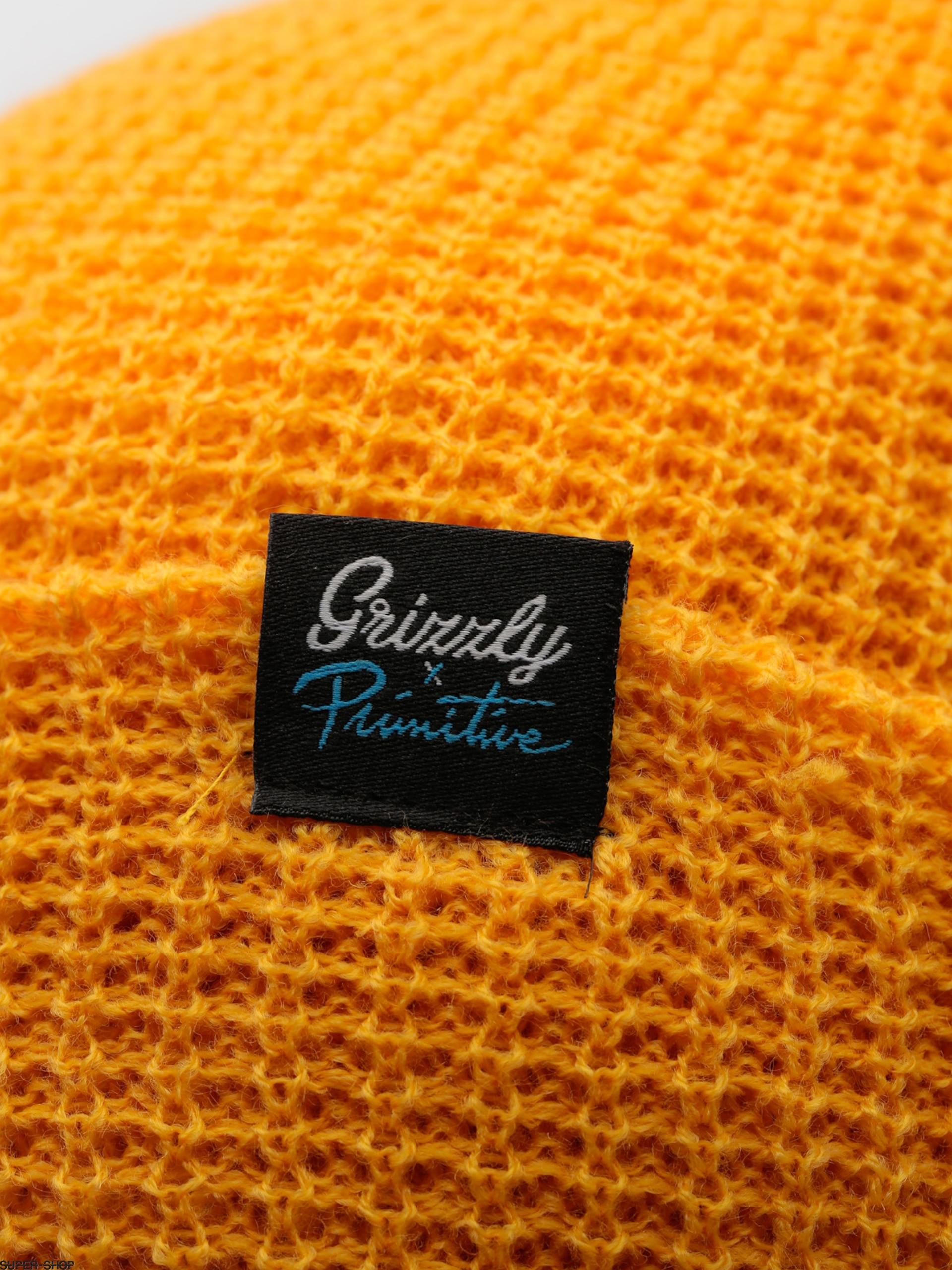 b013a8a7a18c0 Primitive Beanie Script Logo Waffle Beanie (gold)
