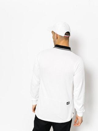 Nike SB Polo t-shirt Nk Sb Dry Ls (white/black/black)