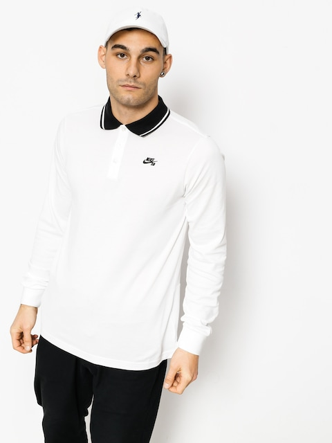 Nike SB Poloshirt Nk Sb Dry Ls (white/black/black)