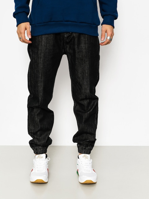 MassDnm Hose Signature Joggers Jeans (black rinse)