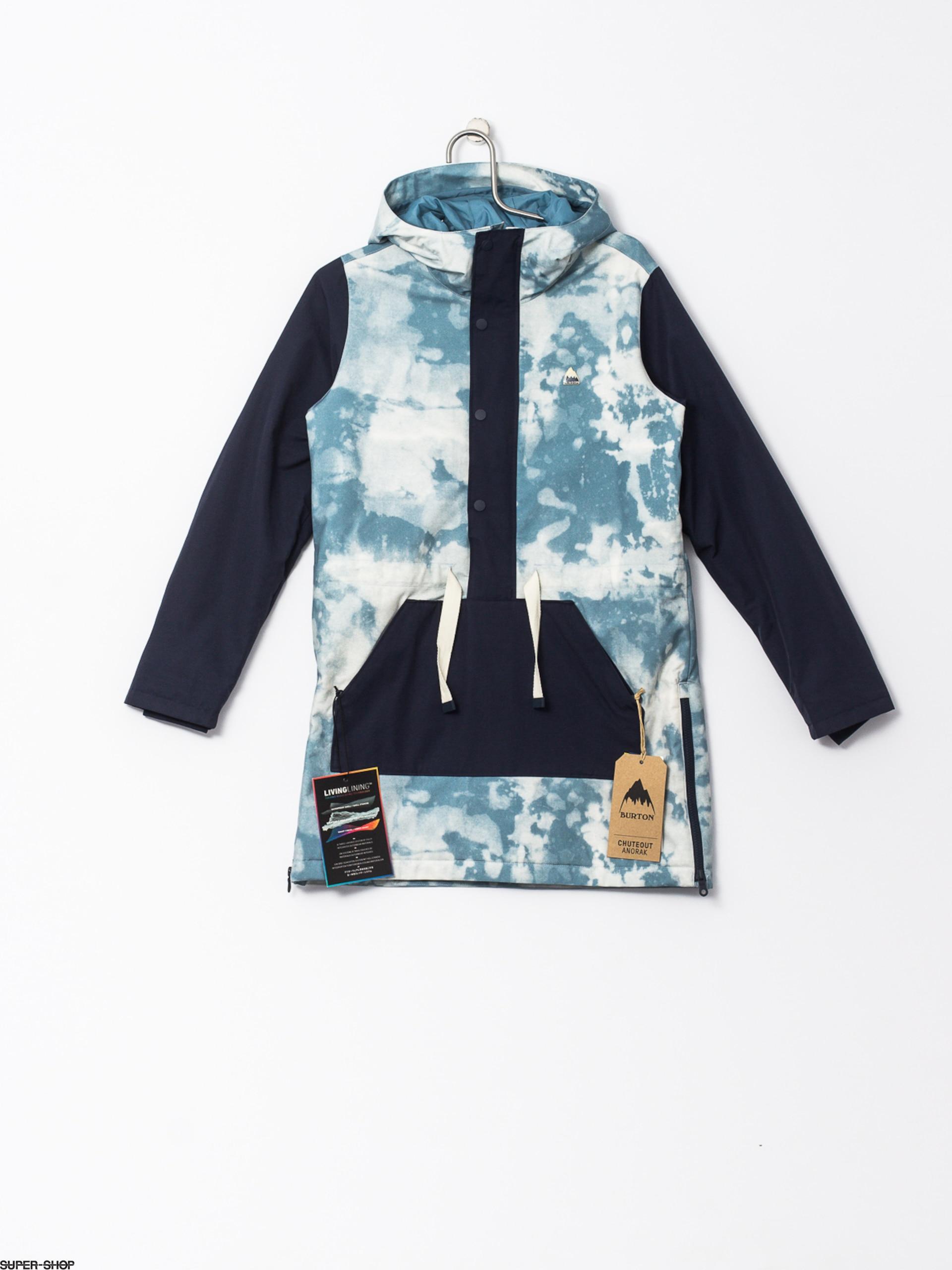 Burton Snowboard Jacket Chuteout Anorak Wmn Bleach Modigo