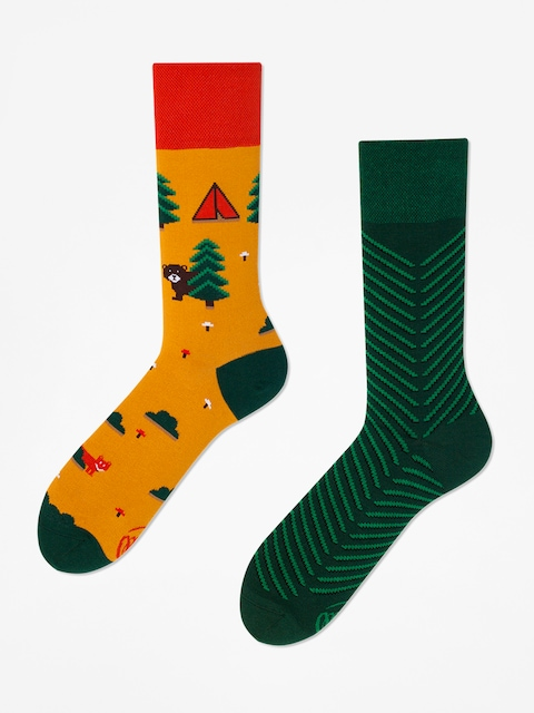 Many Mornings Socks Scout Memory (orange/yellow/green)