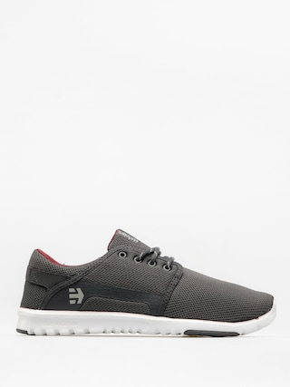 Etnies Shoes Scout (dark grey/white/red)