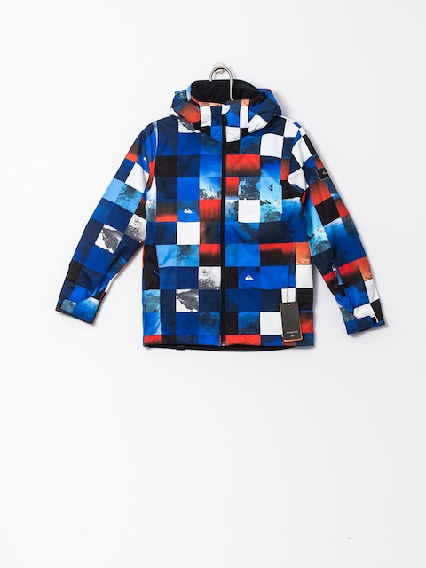 Quiksilver Snowboard jacket Mission Junior (blue red icey check)