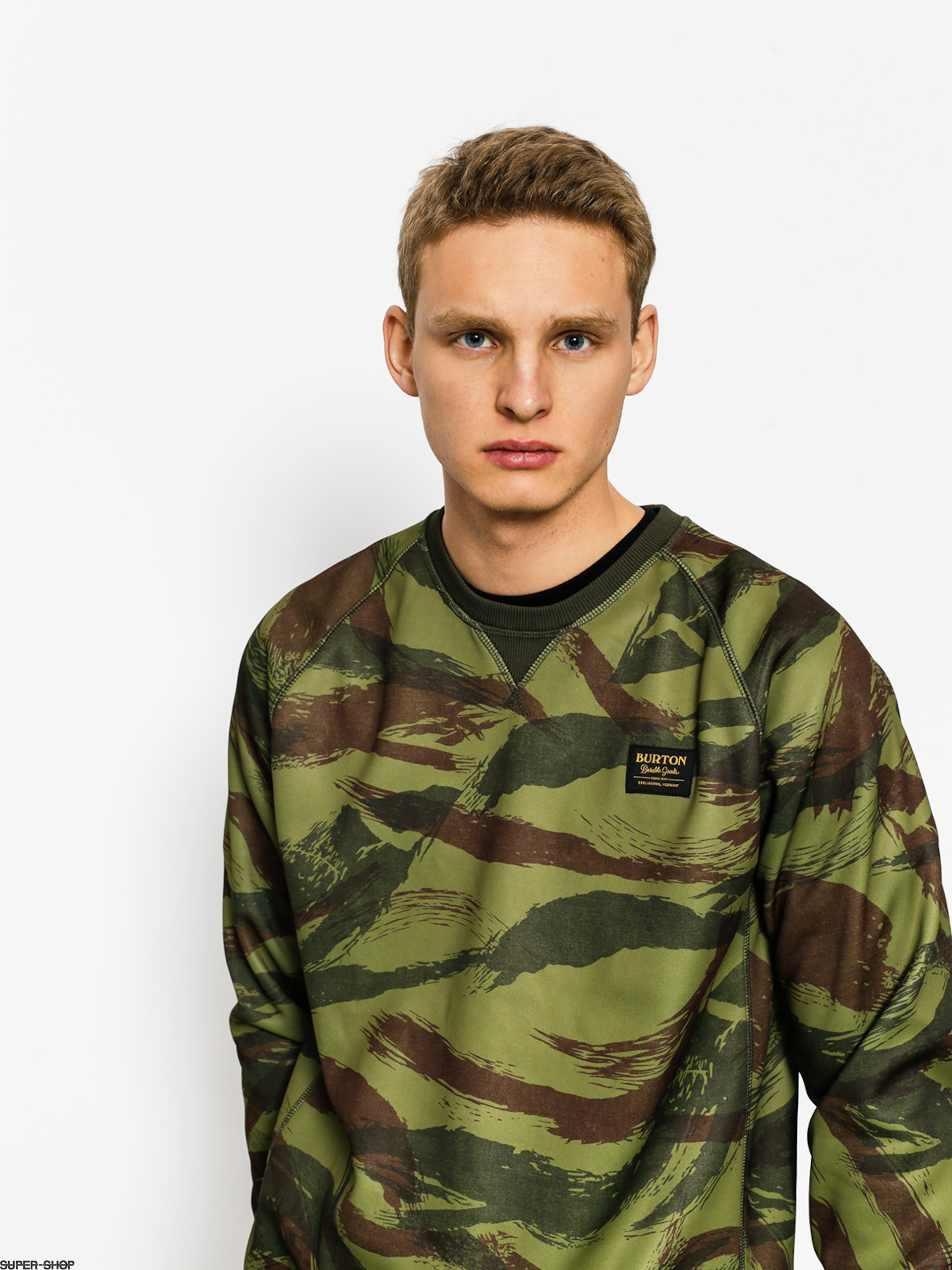Burton Active sweatshirt Bonded Crew (brush camo)