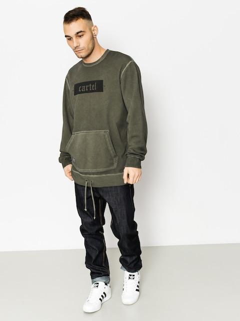 Backyard Cartel Sweatshirt Palm Long Fit (washed khaki)
