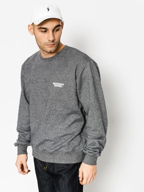 Backyard Cartel Sweatshirt Back Label (dark heather grey)