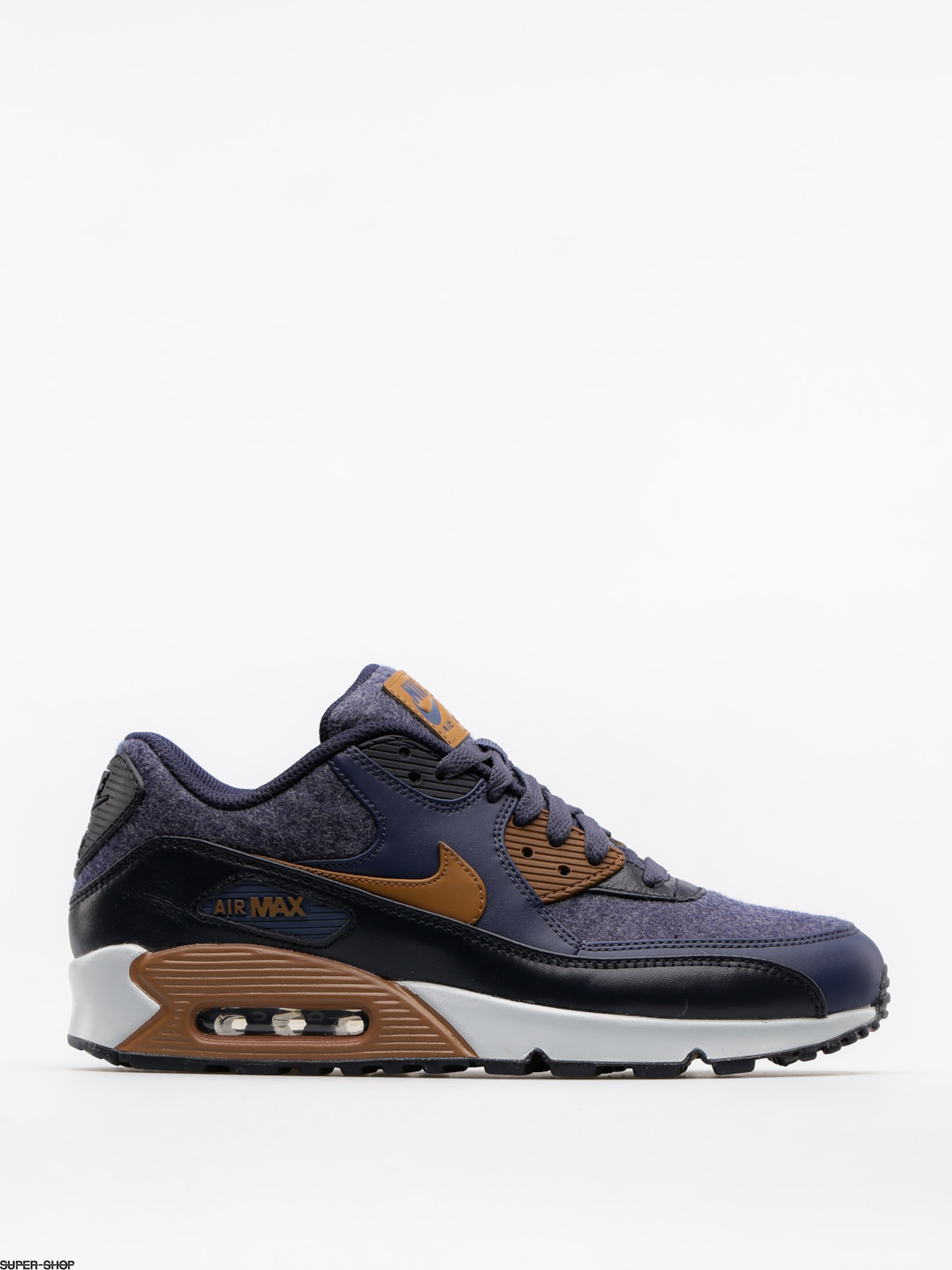 Nike Shoes Air Max 90 Premium (thunder blue/ale brown dark obsidian)