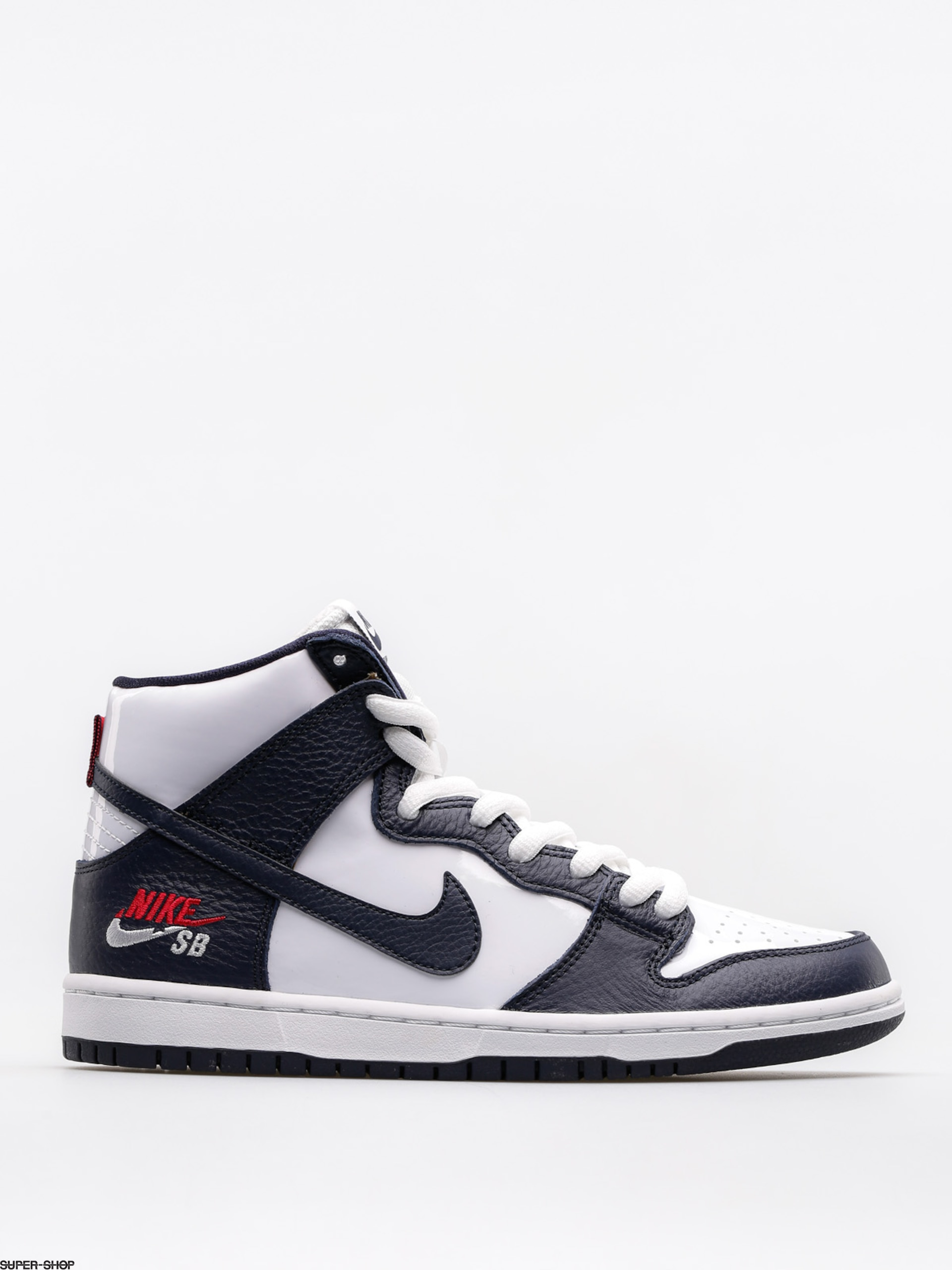 Nike SB Shoes Sb Zoom Dunk High Pro (obsidian/obsidian white university red)