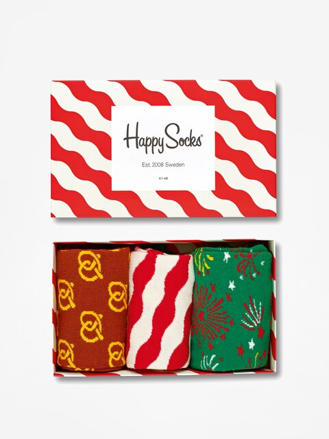 Happy Socks Socken Giftbox 3pk (white/red)